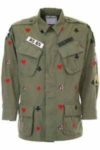 As65 vintage jacket with embroidery Y18048 Army Green - Authentic