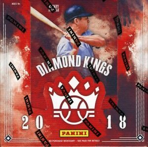 2018 PANINI DONRUSS DIAMOND KINGS BASEBALL HOBBY BOX BLOWOUT CARDS