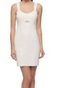 NEW Guess LA White Silver Cutout Summer Cocktail Dress SIZE 14