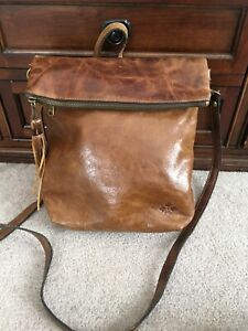 PATRICIA NASH Luzille Backpack COGNAC Purse Distressed Vintage BROWN Tote