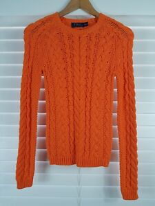 RALPH LAUREN sz XS (or 8  4 us ) womens cable knit sweater jumper [#1940]