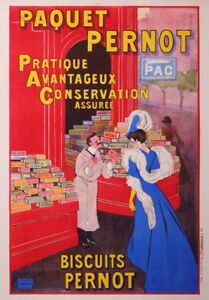 CAPPIELLO LEONETTO PERNOT BISCUIT - VINTAGE FRENCH ADVERTISING POSTER CIRCA 1910