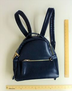 EMPERIA Back Pack Hand Bag NAVY BLUE  Purse VEGAN Leather - 24 hour FLASH SALE