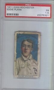1911 d359 Rochester  baking Eddie Plank rare PSA 1.5 low pop