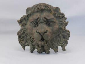 For Pam II~Antique BRONZE Lion Plaque~Water Garden Fountain Head~