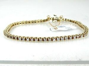 Estate 14k Yellow Gold Natural 4.5ctw Diamond Tennis Bracelet 12g 8.25