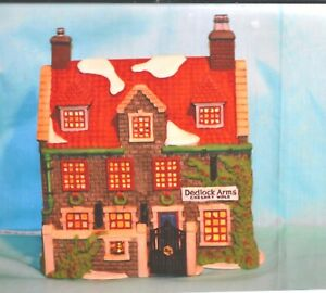1994 DICKENS HERITAGE VILLAGE #3 DEDLOCK ARMS LIGHTED MINT IN OX