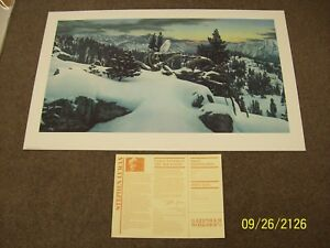 Stephen Lyman  1983  Ltd.Ed.Print S&N Mint....  EARLY WINTER IN THE MOUNTAINS