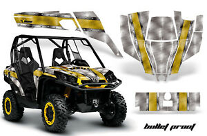 UTV Graphics Kit SXS Decal Sticker Wrap For Can-Am Commander 800 1000 BULLET YLW
