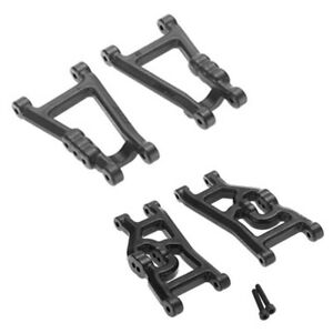 RPM 7328280492 Front & Rear Heavy Duty A-Arms Combo Black : Traxxas Bandit