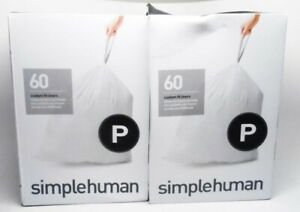 Simplehuman Custom Fit Liners Code G 60count 50-60L / 13-16 US Gal Lot of 2