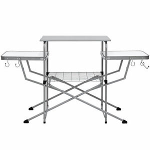 Portable Outdoor Folding Camping Grilling Table Carrying Case Picnic Party BBQ