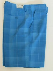 NEW MEN'S UNDER ARMOUR GOLF PERFORMANCE FLAT FRONT SHORTS TURQUOISE PICK SIZE