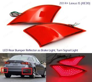 Red Lens Rear Bumper Reflector LED Signal Brake Light For Lexus IS250 IS350 IS $39.95