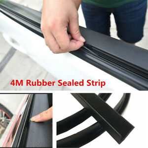 4M Black Rubber Sealed Strips Noise Weatherstrip For Car Front Rear Side Windows