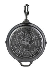 Lodge Made in America Series 2019 Cast Iron Skillet with Logo 10.25 Inch