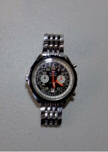 Vintage Breitling Cosmonaute chronograph serviced 24 hour dial