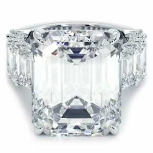 17.64 Carat GIA Certified G-Flawless Emerald Cut Diamond Engagement Ring 18k