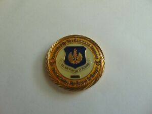CHALLENGE COIN UNITED STATES AIR FORCES IN EUROPE COMMAND SURGEON SERIAL NUMBERE