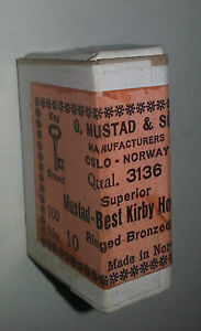 Old Advertising Box Mustad Fishing Best Quality Fishing Hooks #10 NOS 100 Hooks