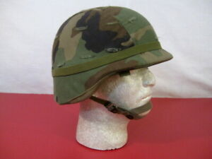 US Army PASGT Ground Troop Helmet made with Kevlar wWoodland Camo Cover - Lg #4