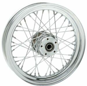 Drag Specialties Stock Replacement 40-Spoked Front Wheel 16X3 (0203-0534)