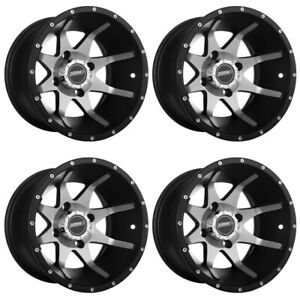 4 ATVUTV Wheels Set 14in Sedona Storm Machined 10mm 4137 5+2 CAN