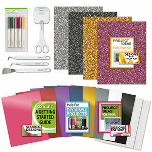 Cricut Tools Bundle Vinyl Pack, Basic Tools & Cricut Explore Pens, Guide