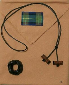 Boy Scout WOOD BADGE 2 BEADS Neckerchief Slide Woggle Set Scout Leader Gilwell