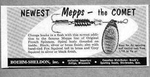 1956 Print Ad Mepps Comet French Spinner Fishing Lures AntigoWI