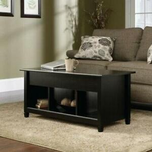 Lift up Top Coffee Table w Hidden Storage Compartment Shelf Black