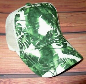 MENS AMERICAN EAGLE TROPICAL LEAVES SNAPBACK HAT ADJUSTABLE CAP ONE SIZE