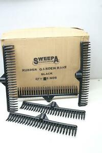 5 Pack Sweepa 100% Rubber Rake Head Only No Scratching No Noise Flexible $54.99