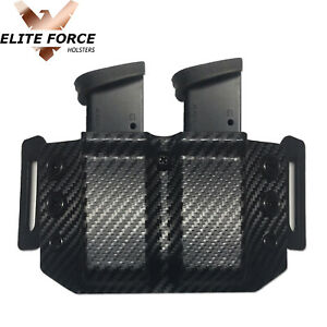 Magazine Holder For Ruger SR9C 9MM Magazines DUAL OWB Kydex - CARBON FIBER