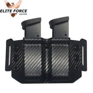 Magazine Holder For Sig Sauer P250 & P320 9MM 40 CAL & .357 - CARBON FIBER BLK
