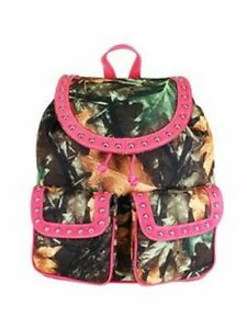 Camouflage Pink Backpack Purse Camouflage Handbag Travel Bag $34.95