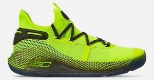 UNDER ARMOUR CURRY 6 BASKETBALL SHOE YELLOW JAUNE AUTHENTIC NEW IN BOX SIZE 9
