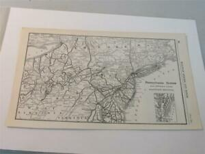 Original Map of the Pennsylvania System w Connections Eastern Section 1923 $19.87