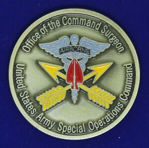 US Army Special Operations Command Surgeon Challenge Coin M-4