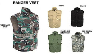 RANGER VEST Hunting Fishing Camping Duck Bird Dove Army Military Paintball S-5X