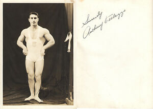 Anthony Tony Terlazzo AUTOGRAPH Weightlifter Gold Medal1936 Berlin Olympics USA