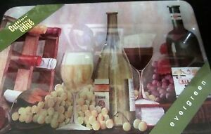 Cutting Edge Evergreen Tuscan Vineyard Wine Cutting Board ~ NEW