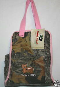 Mossy Oak Camo Pink Camo Daddy's Diaper Bag Baby Girl Camouflage Tote
