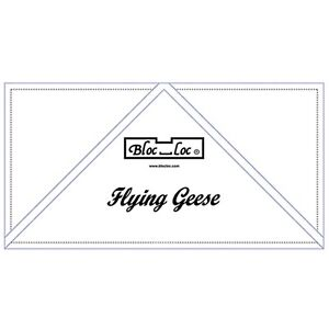 Bloc Loc 2quot; x 4quot; Flying Geese Square Up Ruler $22.50