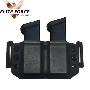Magazine Carrier Holster For Glock 43-X 9MM Magazines - BLACK