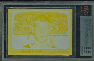 1966-67 TOPPS TEST 35 BOBBY ORR RC PROOF BGS 8.5  SOLO FINEST 1989 Topps Auction