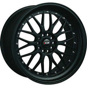 XXR 521 17x7 4x1004x114.3 (4x4.5) +38mm Flat Black Wheels Rims 52177082