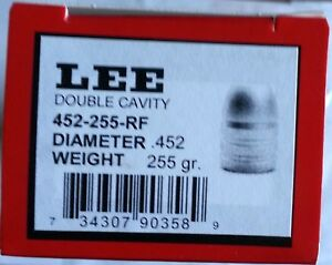 Lee 2-Cavity Bullet Mold 452-255-RF-.45 CAL 255 GR. ROUND NOSE FLAT POINT-#90358