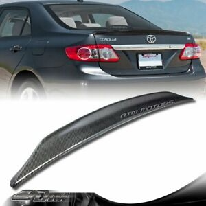 Duck Real Carbon Fiber Rear Trunk Spoiler Wing For 2008-2012 Toyota Corolla 4-DR