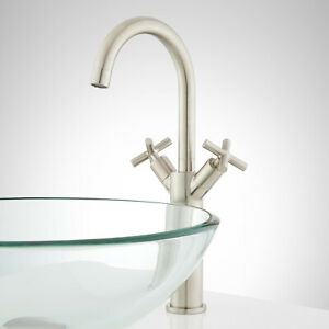 Signature Hardware Aviston Single Hole Vessel Faucet with Pop Up Drain